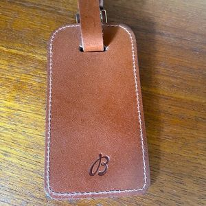 Simone LeBlanc Leather Luggage Tag Breitling Logo